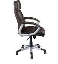Buy Ventura High Back Executive Chair in Brown Colour by