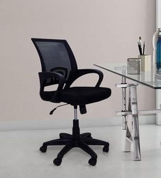 best ergonomic chairs in india rush seat chair office online buy at voom black colour