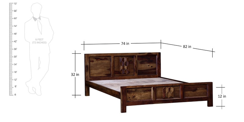 Buy Wyoming King Bed in Provincial Teak Finish by