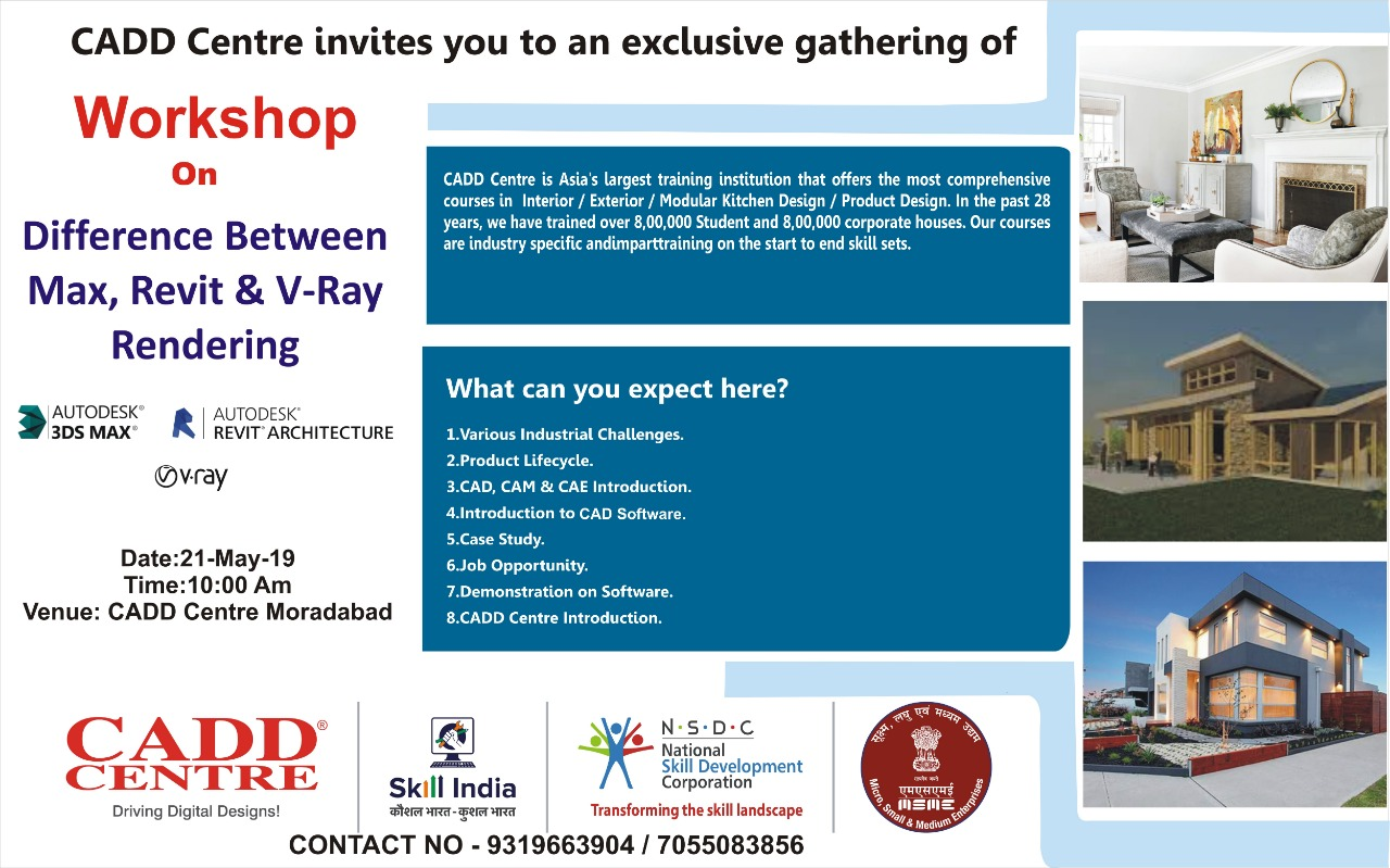 Workshop on difference b/w Max, Revit & V-Ray Rendering