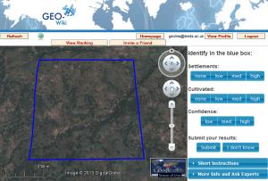 image of geo-wiki interface