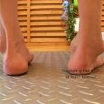 変形性足関節症と室内履き。