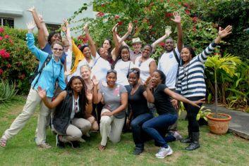 University students on study abroad program in Santo Domingo