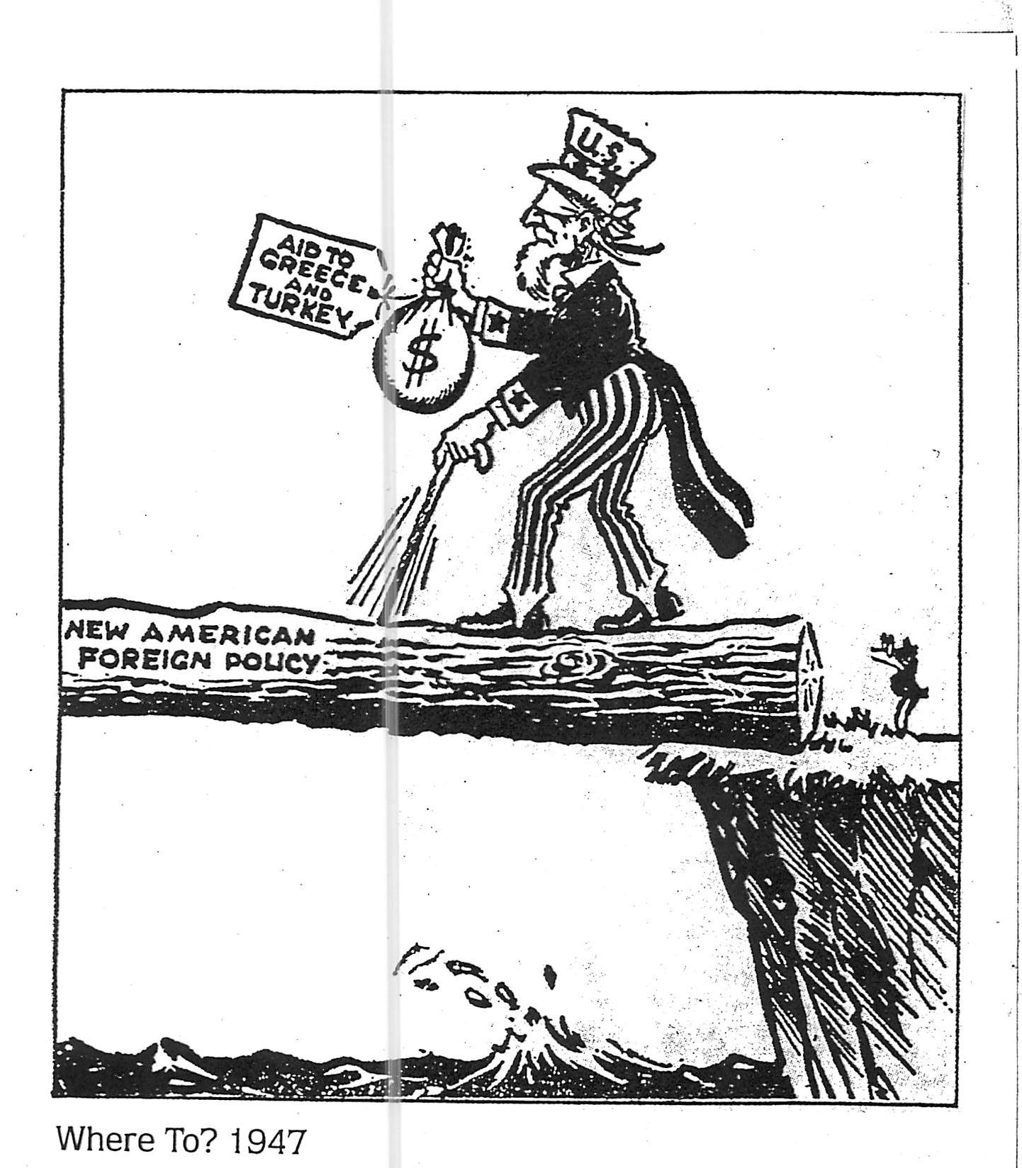 Political Cartoons Truman Doctrine Amp Marshall Plan