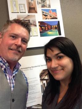 Alisha Garza, Student IIDA, with her mentor, Ben Eastman, IIDA, at GNB Architects. / Credit: Alisha Garza, Student IIDA
