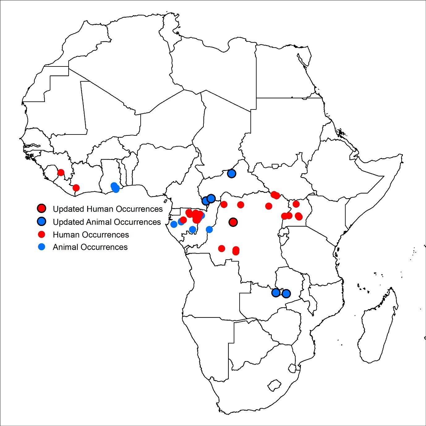 Updates to the zoonotic niche map of Ebola virus disease