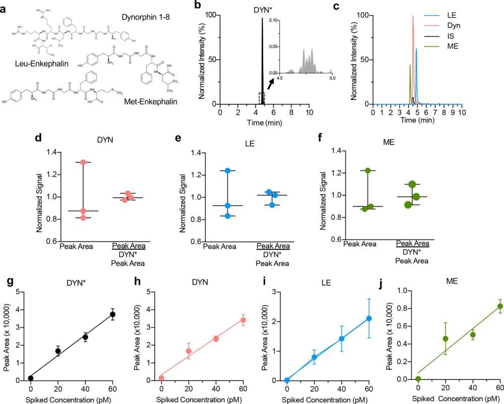 medium resolution of optimization of opioid peptide detection parameters