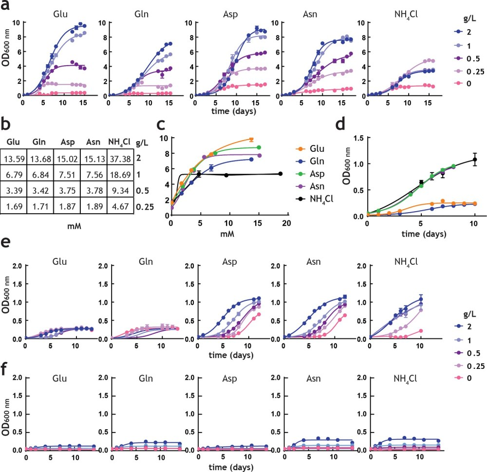 medium resolution of analysis of m tuberculosis growth in pre adapted nitrogen cultures