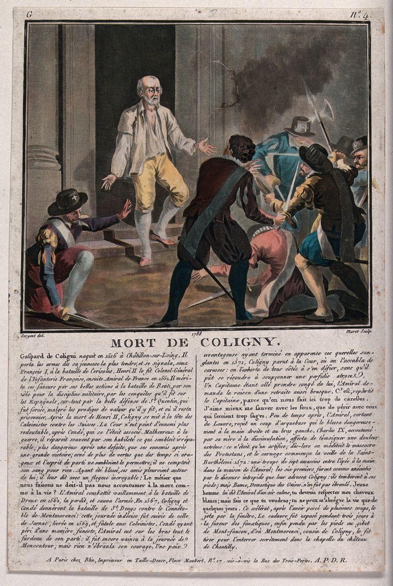 Massacre Of Saint Bartholomew S Day Gaspard De Coligny Is