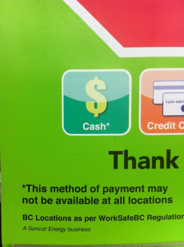 This Method of payment may not be available at all locations.