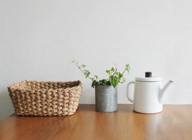 キッチン収納には「かご」が便利!さまざまな活用法をご紹介