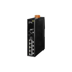 NS-205PFT-24V CR : PoE Switch/4 Ethernet/1 Fiber/ST/Mul-mode/2km