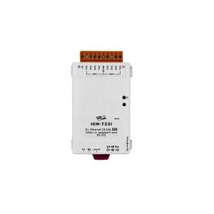 ICP DAS tGW-722i CR Tiny/Gateway/Modbus RTU/TCP/PoE/2 RS-232/isolated