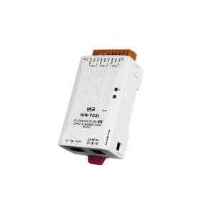 ICP DAS tGW-732i CR : Tiny/Gateway/Modbus RTU/TCP/PoE/3 RS-232/isolated