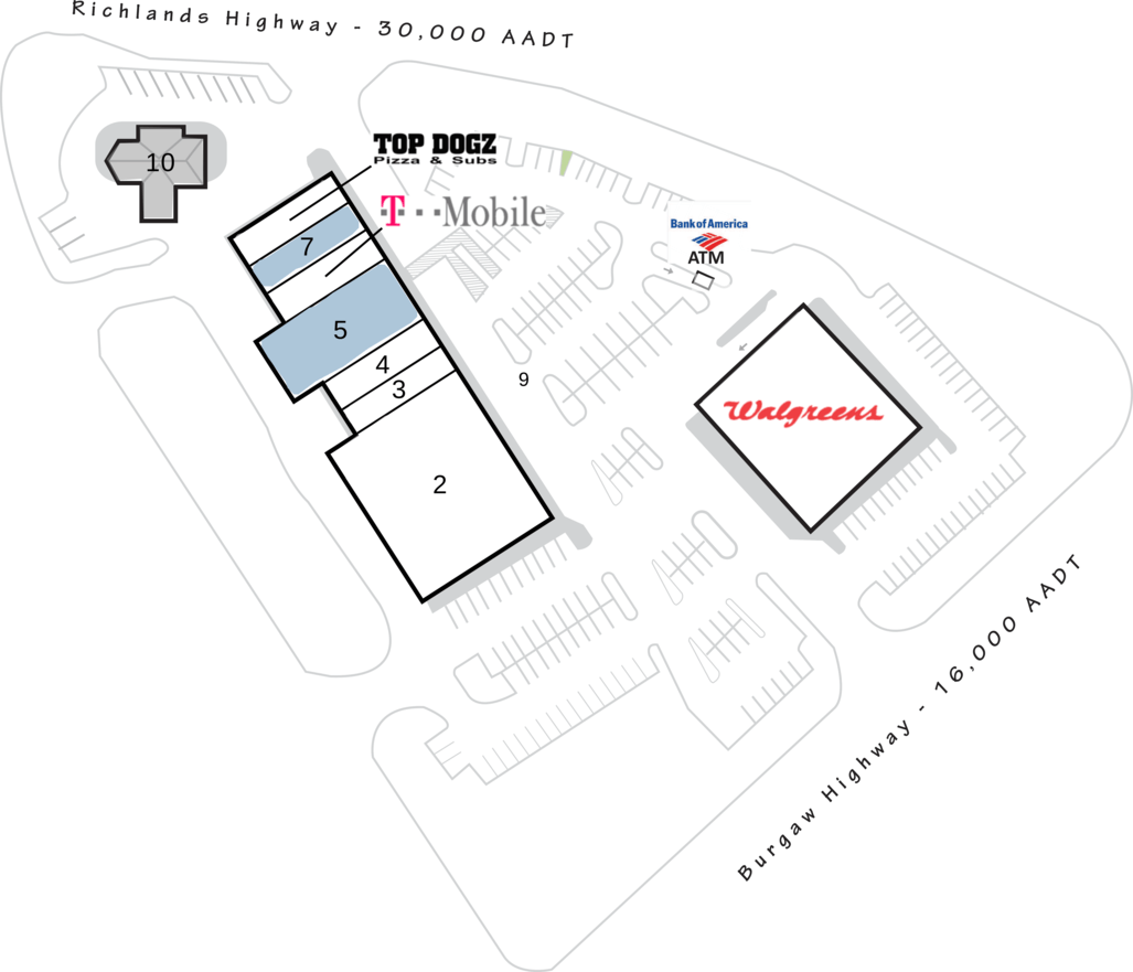 Jacksonville Nc Walgreens Plaza  Retail Space For Lease