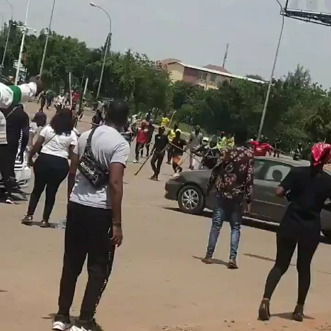 Hoodlums Attack Peaceful #EndSARS Protesters In Benin
