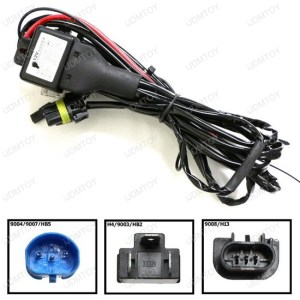 HID Conversion Kit BiXenon Relay Wiring Harness for H13 9004