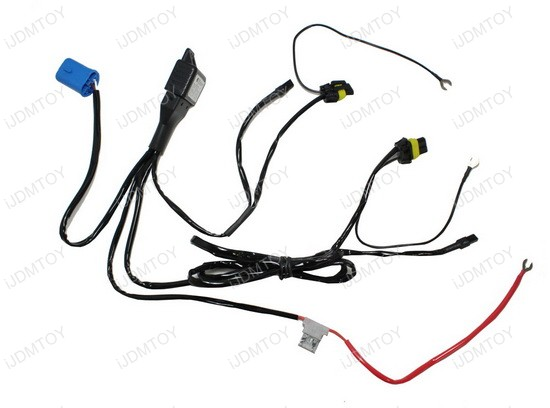HID Conversion Kit Bi-Xenon Relay Wiring Harness for H13 9004