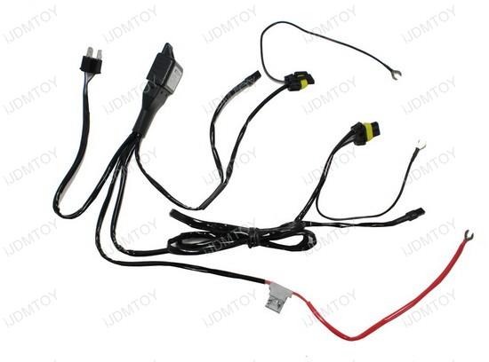 HID Conversion Kit Bi-Xenon Relay Wiring Harness for H4
