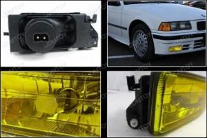 19921998 BMW E36 3 SERIES OEM Style Yellow Housing Fog Lights