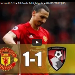 [#Football] : Manchester United vs Bournemouth 1-1 ● All Goals & Highlights ● 04/03/2017 [HD]