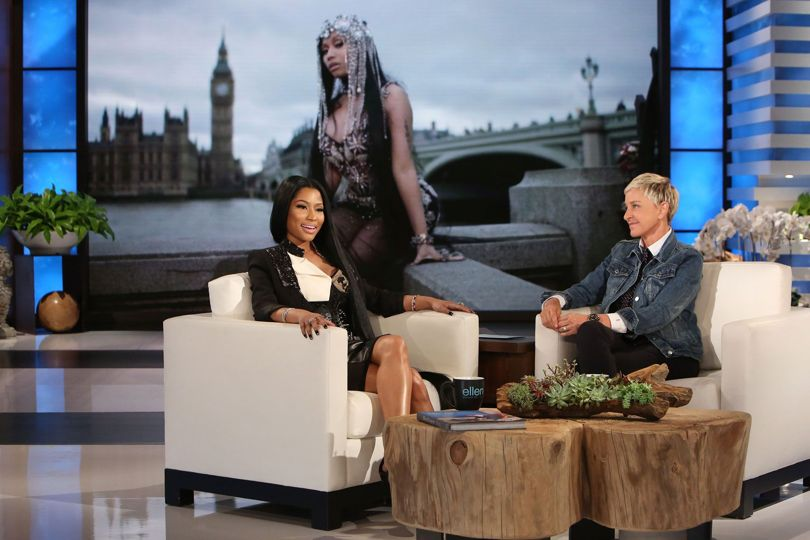 Ellen asked Nicki Minaj if she's dating Nas and this is what she said
