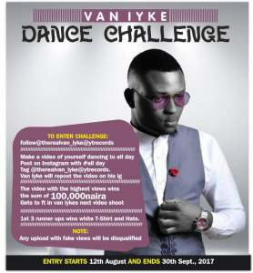 #Vaniyke #DanceChallenge: #100K Up for Grab! With Other Prizes (See Details)