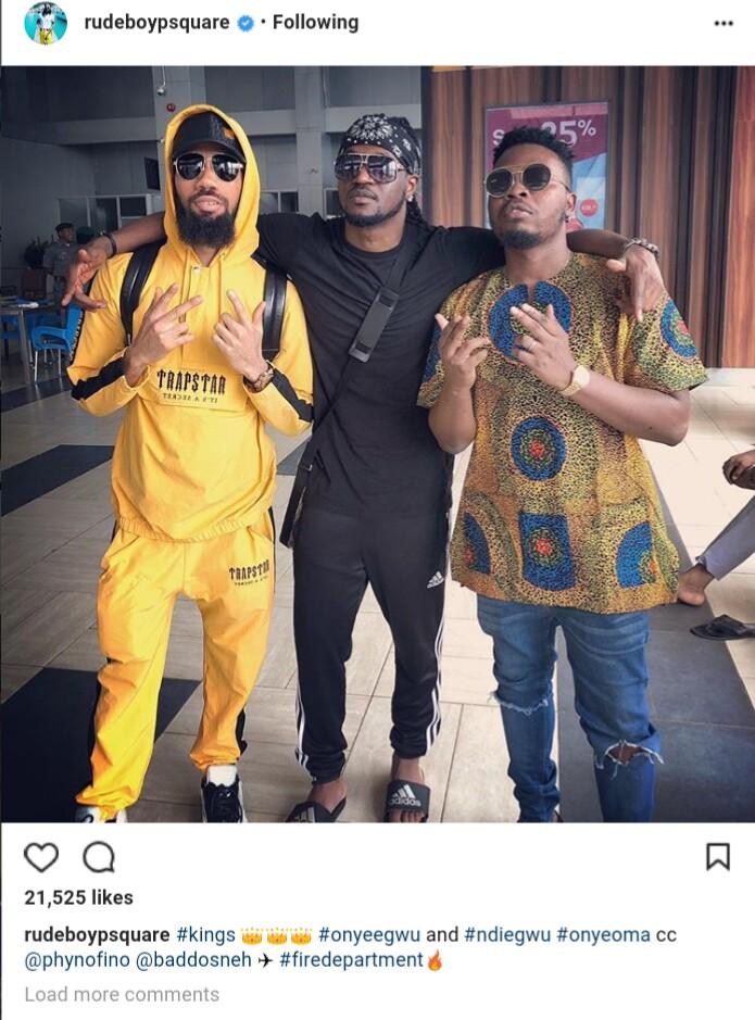 Olamide, Phyno And Paul Okoye Hangout Together (photo)