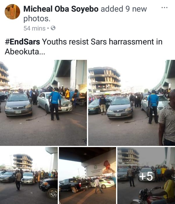 Photos Of Youths Resisting SARS Harassment In Abeokuta Today 4