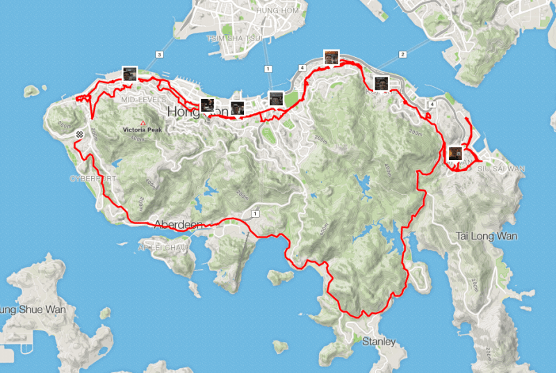Island Revisited Route