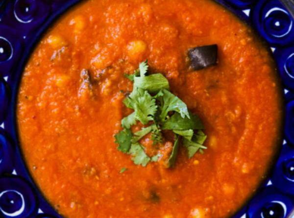 рецепт суп пюре из баклажанов рецепт, жаренной моркови и нута. пошаговый с фото
