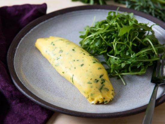 Французский омлет с зеленью