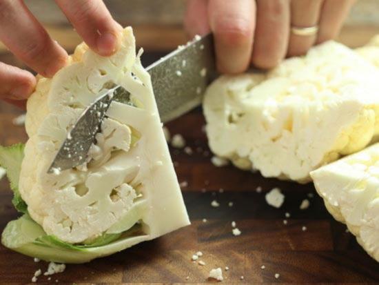 как резать цветную капусту