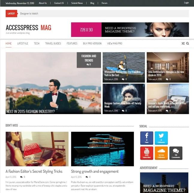 AccessPress Mag theme