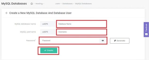 Create MySQL Database manually- install wordpress manually