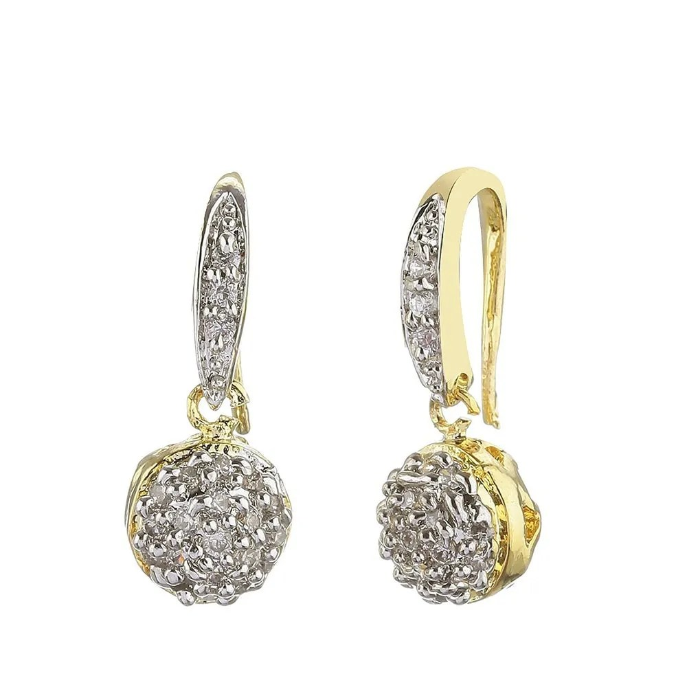 Youbella American Diamond Gold Plated Pendant Necklace With Earrings For Girls Women Ybybpd71037