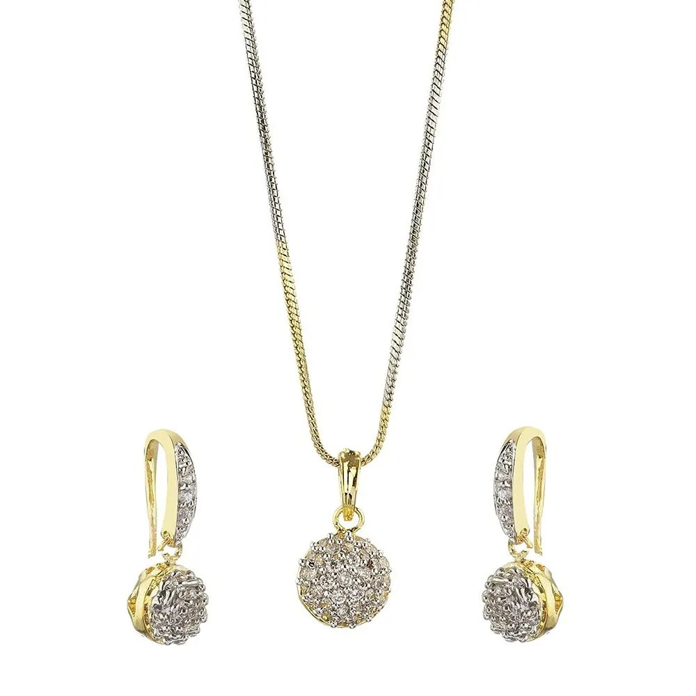 Buy American Diamond Pendent Set for Women at YouBella
