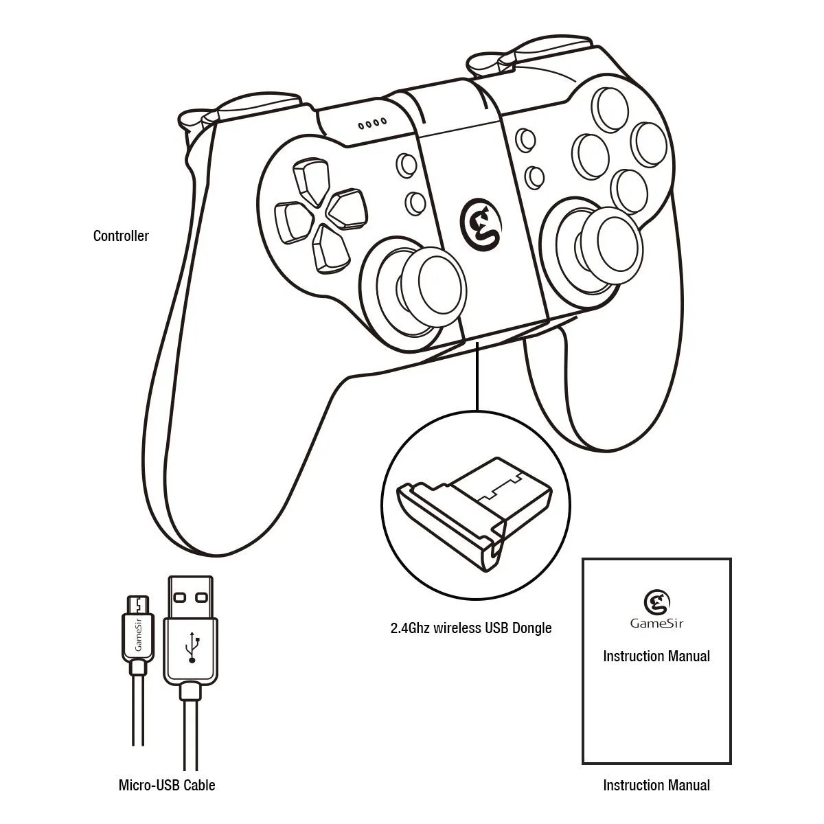 Gamesir T1s Bluetooth Wireless Gaming Controller Gamepad