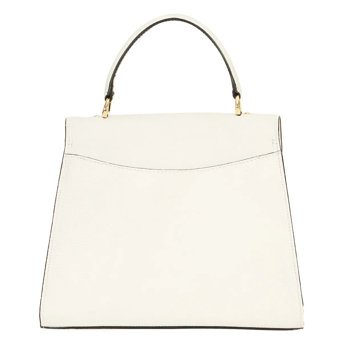 Da Milano Whiteblack Top Handle Bag