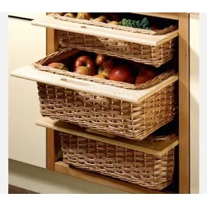 kitchen basket bottom cabinets buy hettich baskets online at rs 2500 decolam wicker with wooden frame 320 x 500 120 cabinet width 400 mm