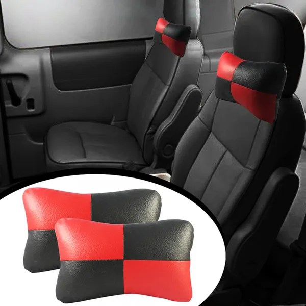 speedwav designer car seat neck cushion pillow red and black colour