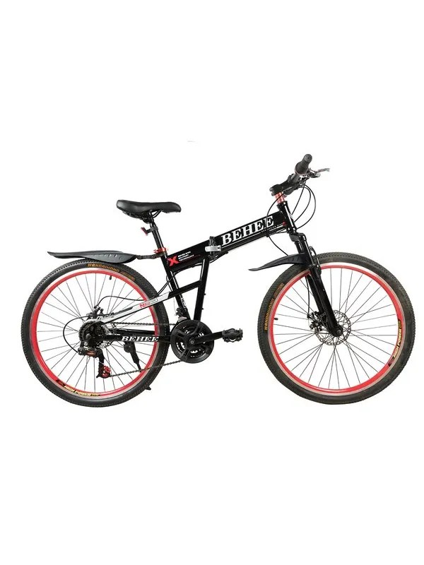 BEHEE X Mountain Bicycle with Folding High carbon steel