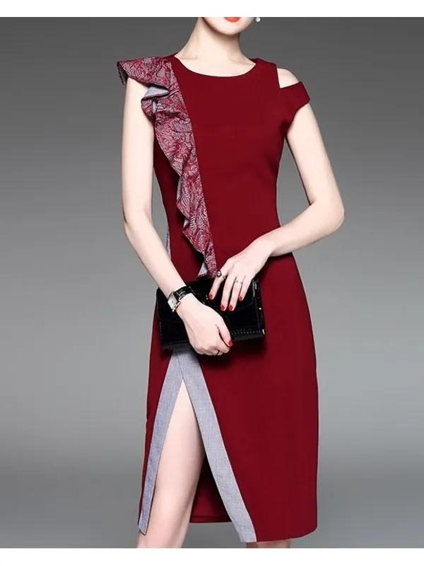 flouncing design slit stylish