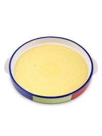 Ceramic Multicolored Pizza Plate | Vvskw004