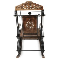 Premium Quality Wooden and Iron Rocking Chair Fully ...