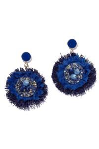 AURORAH Dangle Flower Earrings - Deep Blue | BIKINI.COM