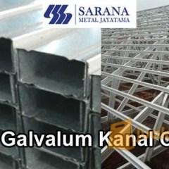 Kanal C Baja Ringan Surabaya Supplier Galvalum Untuk Rangka Atap