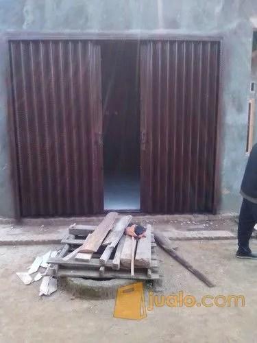 toko baja ringan bandar lampung kota pintu kaca aluminium folding gate rolling door garasi