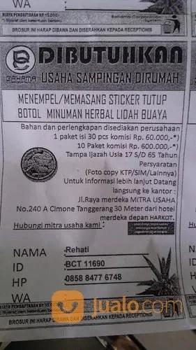 Kerja Borongan Untuk Ibu Rumah Tangga : kerja, borongan, untuk, rumah, tangga, Usaha, Sampingan, Rumah, Tangerang, Jualo