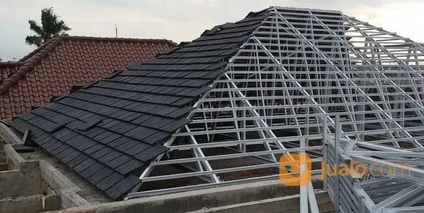 pemasangan atap baja ringan balikpapan jasa pasang rangka dengan genteng beton di